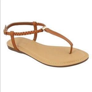 Women's Braided-Strap Gardenia Sandal - Tan
